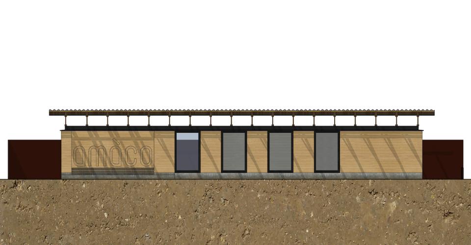 Projet : façade sud